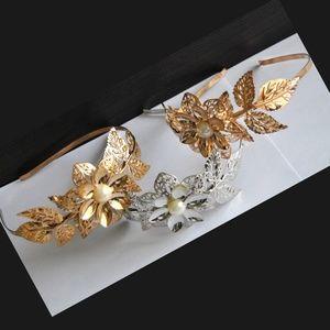 Accessories - WHOLESALE of 3 Metallic Floral Headbands JOBLOT